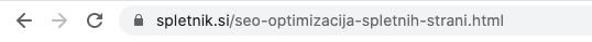 URL naslov je pomemben del optimizacije spletne strani