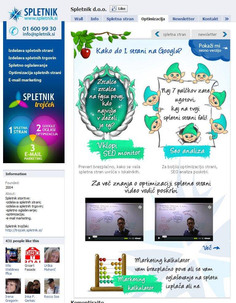Spletnik-Facebook-stran