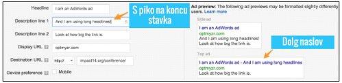 kvaliteten adwords oglas