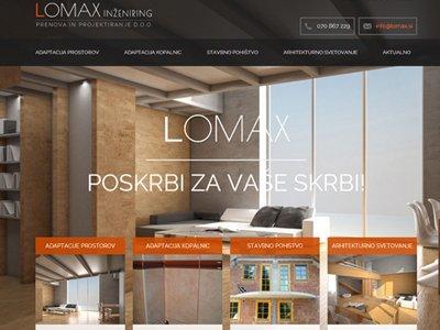 podjetje lomax - spletnik referenca