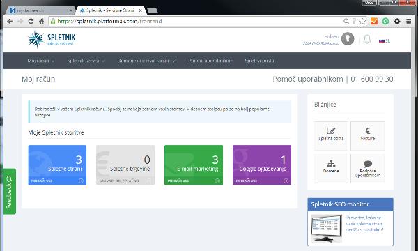 Spletnik servisne strani