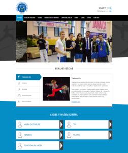 spletna stran, športno društvo