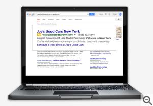 Dinamične povezave, google oglas