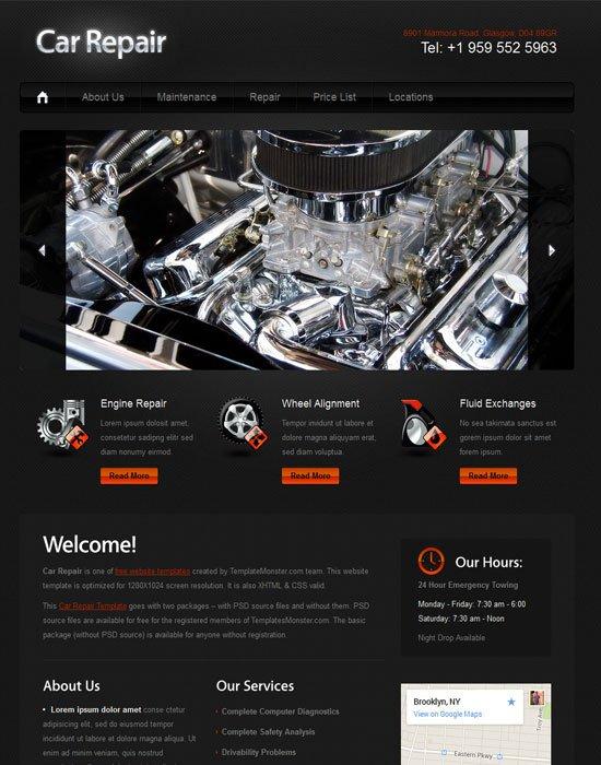 Free-Car-repair-website-Template