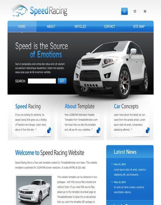 Free-Racing-HTML-Website-Template