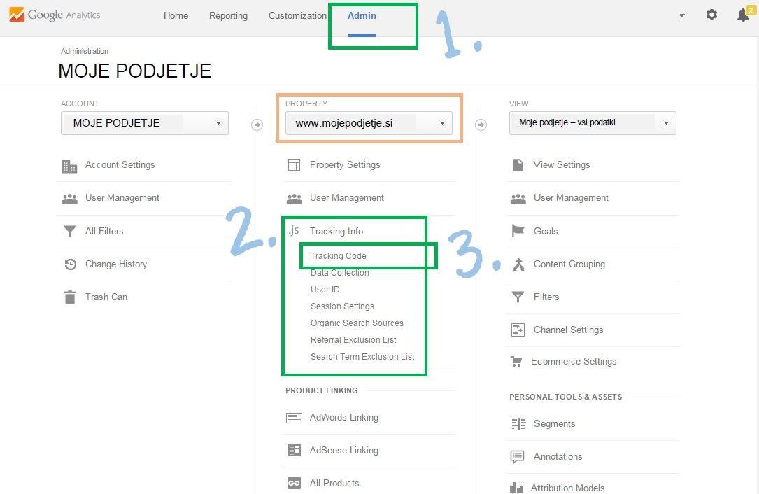 Google analitika in račun: kako nastaviti kodo za sledenje
