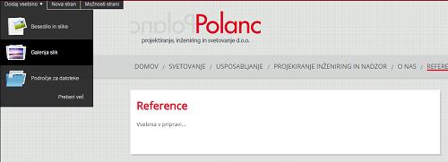 reference na spletni strani