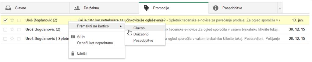 gmail. e-novice, e-mail marketing