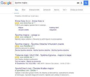 google oglasi, oglasi na googlu, prva stran googla