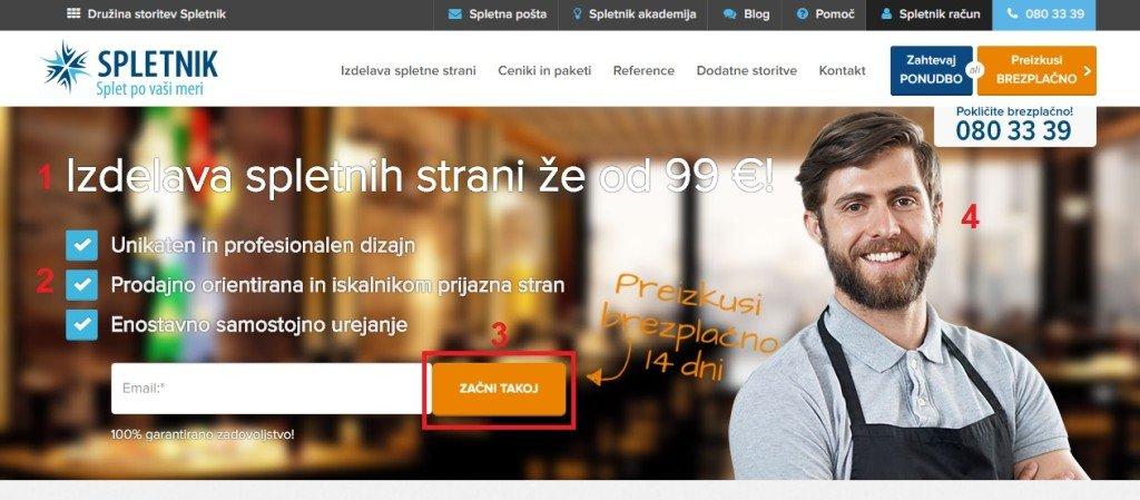 elementi na spletni strani, spletna stran, spletne strani
