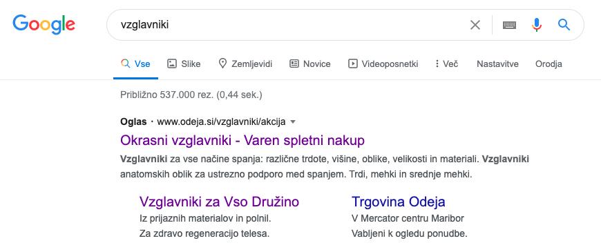 Google oglasi za pridobivanje novih kupcev