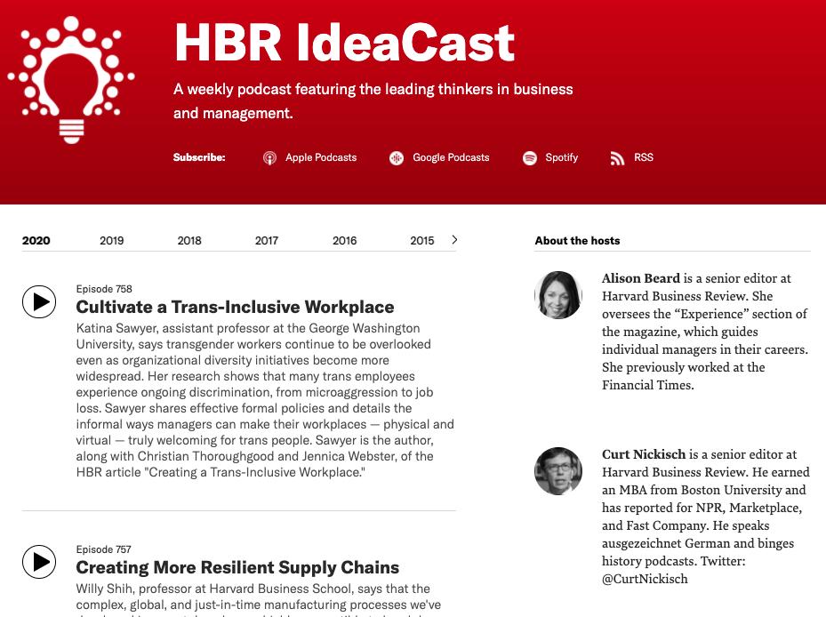 HBR IdeaCast - Podkast / Podcas v Vsebinskem marketingu