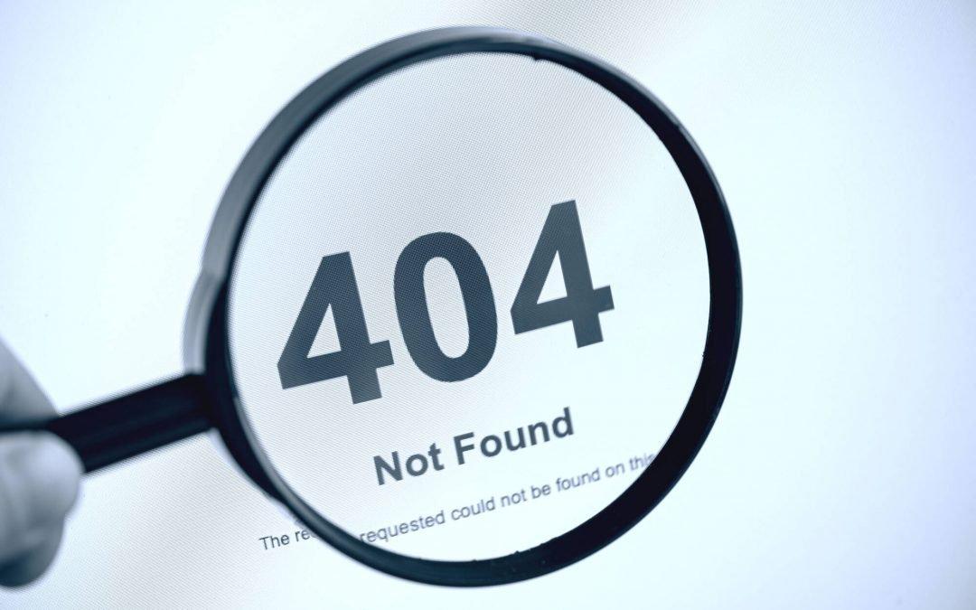 Napaka 404: Stran, ki je ni mogoče najti. Ali pač?