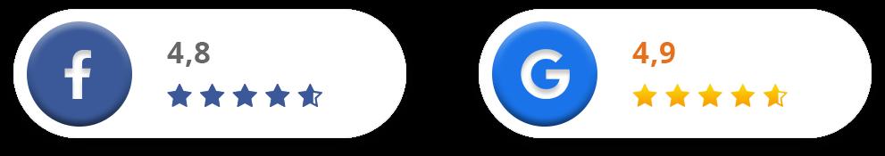 Facebook in Google ocena