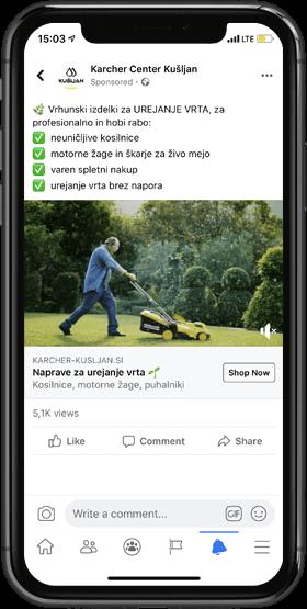 Facebook oglaševanje - oglasi