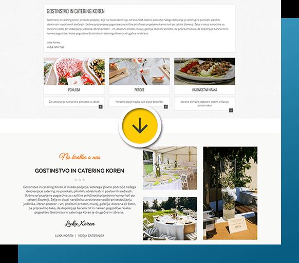 Prenova spletne strani: Gostinstvo in catering Koren