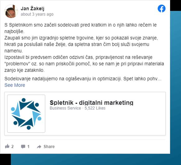 Facebook objava Jan Žakelj