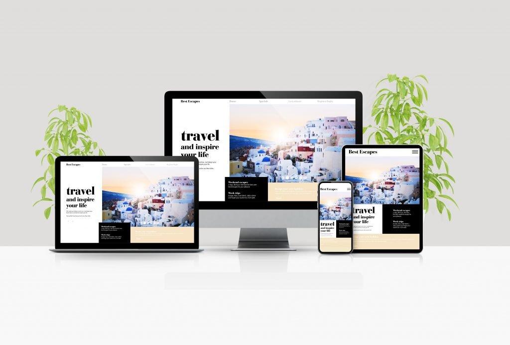 Oblika/dizajn in odzivnost spletne strani