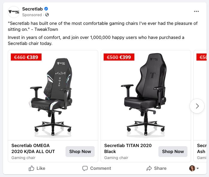 Facebook re marketing
