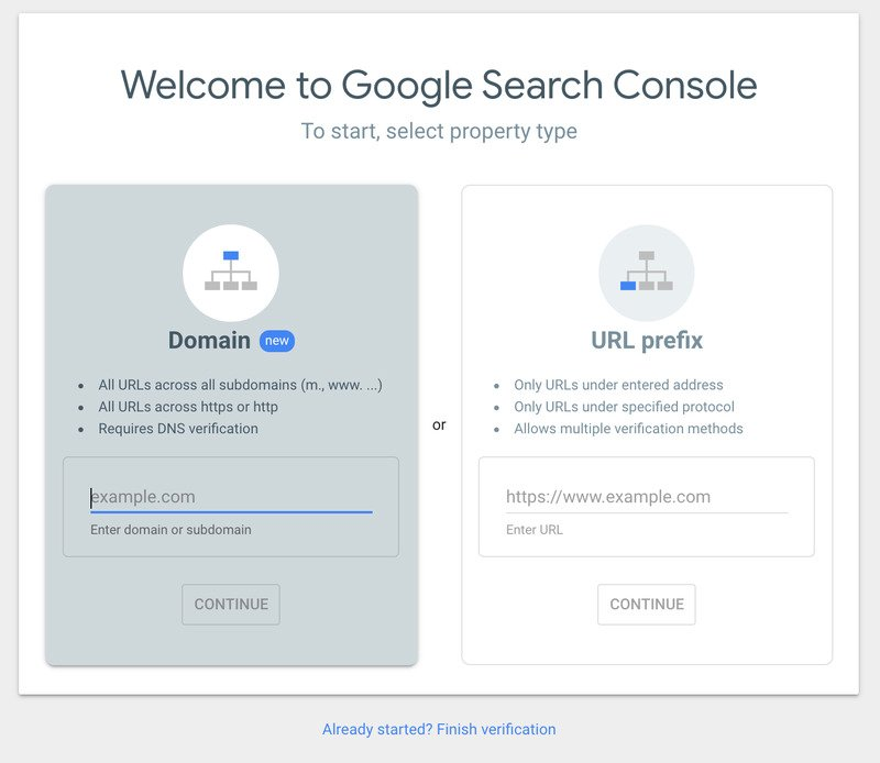 SearchConsole Welcome