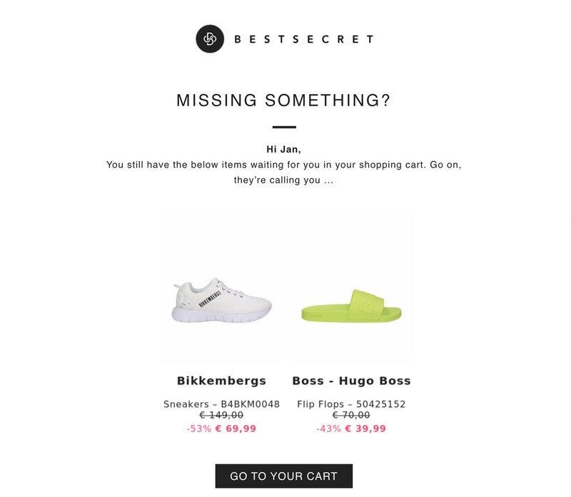 Bestsecret Remarketing Email