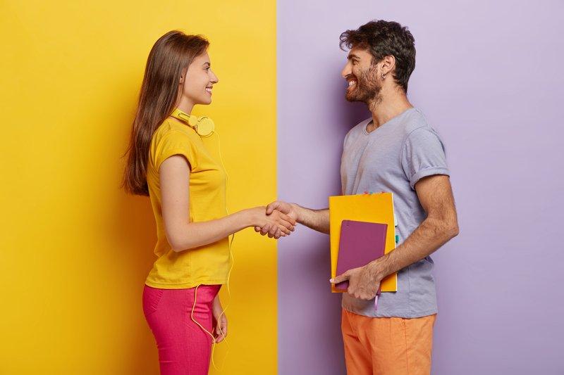 Handshake Happy Customer