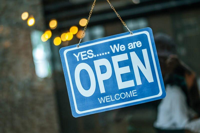Znak We Are Open